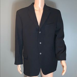 Eddie Bauer Mens Black Sports Jacket SZ.44T